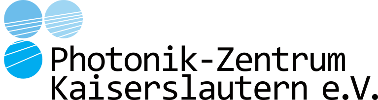 PZKL Logo showing three balls in different shades of blue, cut by beams and sitting above the Logo Text