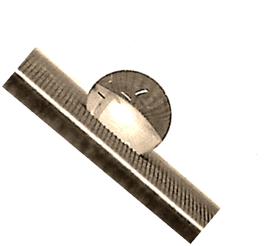 Mikrostrukturen auf einer Aluminiumoberfläche
